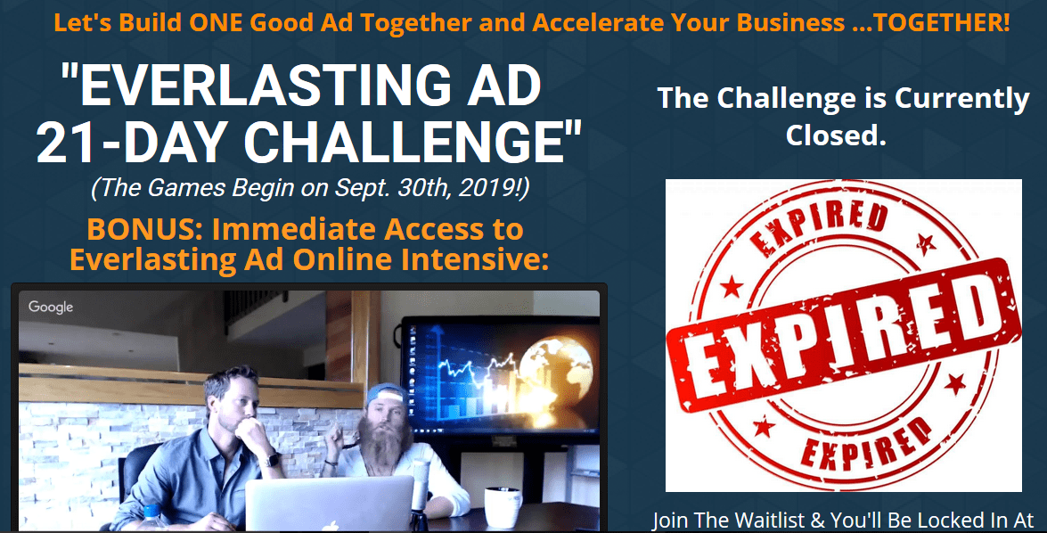Keith Krance Everlasting Ad 21 Day Challenge WSO Downloads